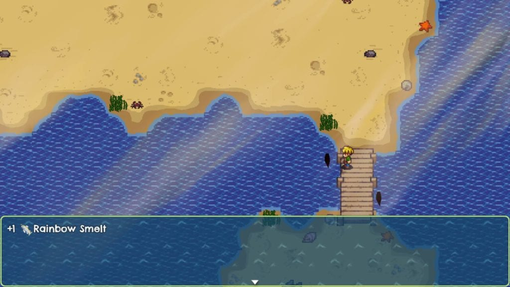 catching rainbow smelt in harvest island